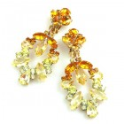 Xena Earrings Clips ~ Yellow Topaz