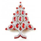 Brooch Tree 10 cm ~ Clear Red