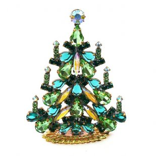 Xmas Tree Standing Decoration 2020 #03 ~ Emerald Green