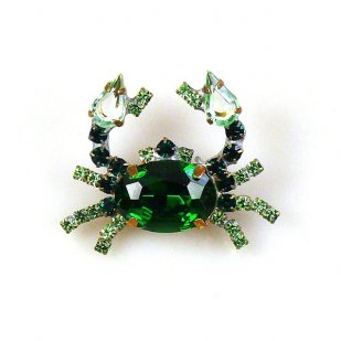 Crab Small ~ Emerald