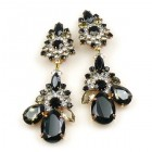 Parisienne Bloom Earrings Clips ~ Night