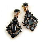 Fatal Touch Earrings Clips-on ~ Black
