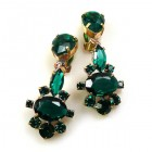Marlene Earrings Clips ~ Emerald
