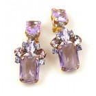 Scarlet Earrings Clips ~ Violet
