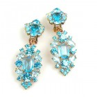 Fatal Passion Earrings Clips-on ~ Aqua