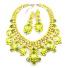 Absolue Necklace Set with Earrings ~ Opaque Yellow Citrine