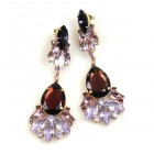 Fancy Essence Earrings Pierced ~ Purple Violet