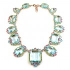 Candy Puffs Necklace ~ Aqua Multicolor