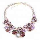 Parisienne Bloom Necklace ~ Violet Secret
