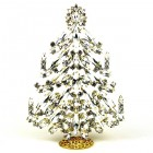 2020 Xmas Tree Decoration 18cm Navettes ~ Clear Crystal