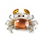 Crab Pin Medium ~ Topaz