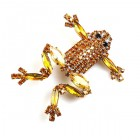 Froglet Pin ~ Yellow Topaz