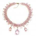 Raindrops Necklace ~ Pink