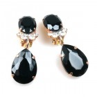 Effervescence Earrings with Clips ~ Black