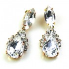 Mon Cheri Earrings Pierced ~ Clear Crystal
