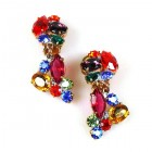 Fantaisie Earrings Clips ~ Multicolor