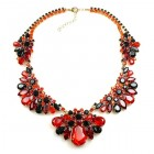 Walla Walla Necklace ~ Red with Black