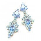Sparkling Moments Earrings Pierced ~ Aqua with Sapphire Blue