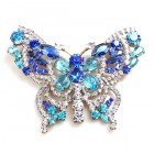 Grand Butterfly ~ Clear Aqua Blue ~ Extra Big