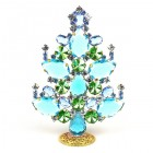 2020 Xmas Tree Decoration 14cm Pears ~ Aqua Green