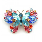 Multicolor Butterfly ~ Barrette Hairclip #4