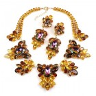 Iris Grande Necklace Set ~ Vitral Topaz