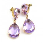 Raindrops Earrings Pierced ~ Violet