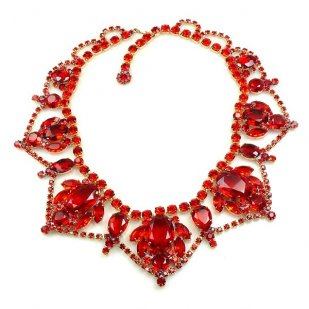 Roxanne Necklace ~ Red