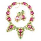 Mythique Set ~ Fuchsia with Yellow and Peridot