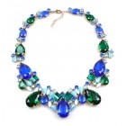 Déjà vu Necklace ~ Blue Tones with Emerald