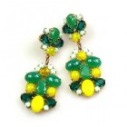 Wild Green ~ Pierced Earrings ~ Yellow Green