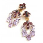 Xena Earrings Pierced ~ Violet Purple
