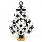 2020 Xmas Tree Decoration 22cm ~ Purple Clear