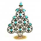 Xmas Tree Decoration Rings and Navettes ~ Clear Emerald