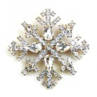 Snowflake Pin ~ Clear Crystal #5