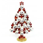2020 Xmas Tree Stand-up Decoration 15cm ~ Clear Red