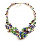 Power of Flowers ~ Necklace ~ Blue Green