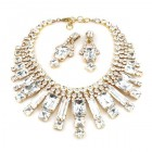 Crystal Shine Necklace Set ~ Clear Crystal