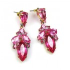 Grace Earrings Pierced ~ Fuchsia