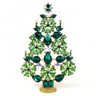 2020 Xmas Tree Stand-up Decoration 22cm ~ Emerald Green