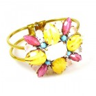 Miracle Clamper Bracelet ~ Pastel Colors Opaque Yellow