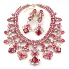 Spice Market Necklace Set ~ Fuchsia Tones