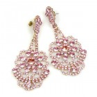 Aisha Earrings for Pierced Ears ~ Pink