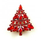 Xmas Tree Brooch #09 ~ Red