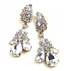 Parisienne Bloom Earrings Clips ~ Crystal Radiance