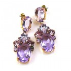 Dramatic Earrings Pierced ~ Violet