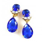 Effervescence Earrings with Clips ~ Blue