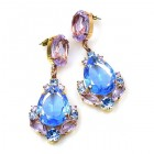 Intermezzo Earrings Pierced ~ Light Sapphire with Violet