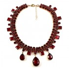 Raindrops Necklace ~ Red