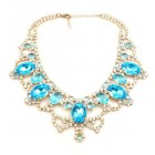 Dolce Vita Necklace Extra ~ Clear Crystal with Aqua